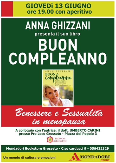 """Presentazione Grosseto """"Buon Compleanno"""" ...menopausa, un libro di Anna Ghizzani"""